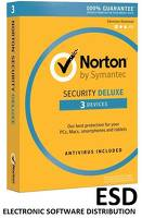 Norton ESD Security DELUXE ESD 1Y 3PC [STA]